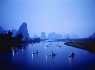 Night Fishing Guilin China Art