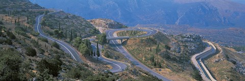 Framed Highway Delphi Greece Print