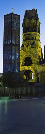 Framed Tower of a church, Kaiser Wilhelm Memorial Church, Berlin, Germany Print