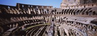 High angle view of tourists in an amphitheater, Colosseum, Rome, Italy Art