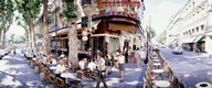 Group of people at a sidewalk cafe, Paris, France Art