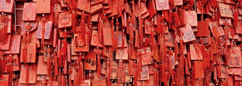 Framed Prayer offerings at a temple, Dai Temple, Tai'an, China Print