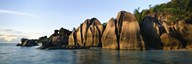 Rock formations at the waterfront, Anse Source D'argent Beach, La Digue Island, Seychelles Art