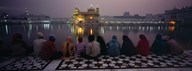 Group of people at a temple, Golden Temple, Amritsar, Punjab, India Art