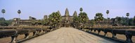Path leading towards an old temple, Angkor Wat, Siem Reap, Cambodia Art