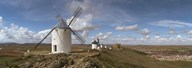 Traditional windmill on a hill, Consuegra, Toledo, Castilla La Mancha, Toledo province, Spain Art