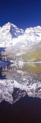 Framed Maroon Bells, Aspen, Pitkin County, Colorado Print