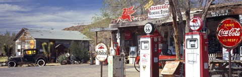 Framed Gas Station on Route 66, Hackenberry, Arizona Print