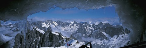 Framed Cave Mt Blanc France Print