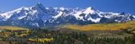 Mountains covered in snow, Sneffels Range, Colorado, USA  Fine Art Print