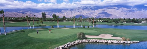 Framed Golf Course, Palm Springs, California, USA Print