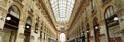 Framed Interiors of a hotel, Galleria Vittorio Emanuele II, Milan, Italy Print