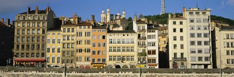 Framed Buildings In A City, Lyon, France Print