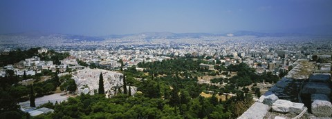 Framed High angle view of a city, Acropolis, Athens, Greece Print