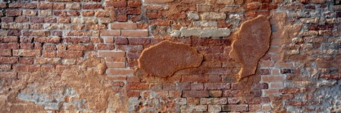 Framed Close-up of a brick wall, Venice, Veneto, Italy Print
