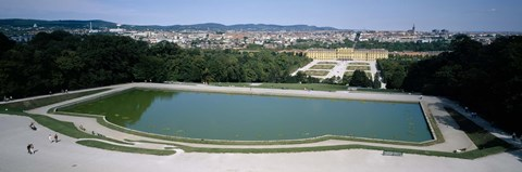 Framed Pond at a palace, Schonbrunn Palace, Vienna, Austria Print