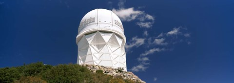 Framed Observatory on a hill, Kitt Peak National Observatory, Arizona Print