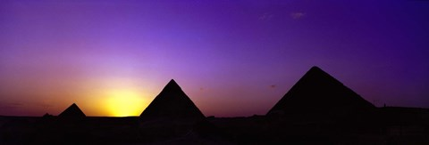 Framed Giza at dusk, Egypt Print