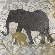 Elephants Exotiques  Fine Art Print