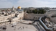 Tourists praying at a wall, Wailing Wall, Dome Of the Rock, Temple Mount, Jerusalem, Israel Art