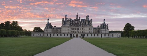 Framed Facade of a castle, Chateau Royal De Chambord, Loire-Et-Cher, Loire Valley, Loire River, Region Centre, France Print