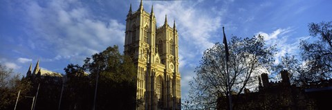 Framed Low angle view of an abbey, Westminster Abbey, City of Westminster, London, England Print