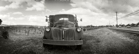 Framed Old truck in a field, Napa Valley, California, USA Print