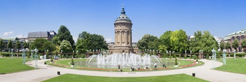 Framed Water tower in a park, Wasserturm, Mannheim, Baden-Wurttemberg, Germany Print