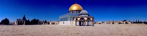 Framed Dome of The Rock, Temple Mount, Jerusalem, Israel Print