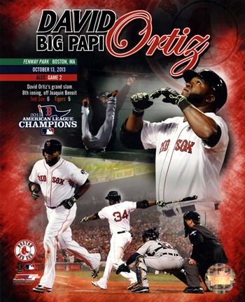 Framed David Ortiz 2013 ALCS Grand Slam Composite Print