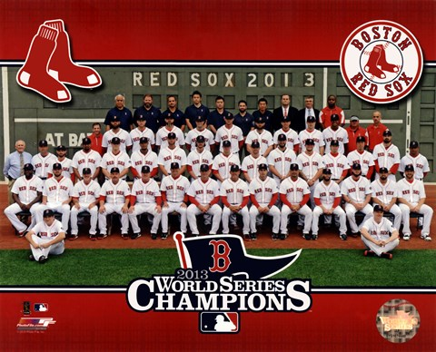 Framed Boston Red Sox 2013 World Series Champions Team Sit Down Print
