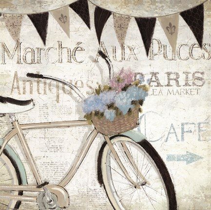 Framed French Flea Market I Print