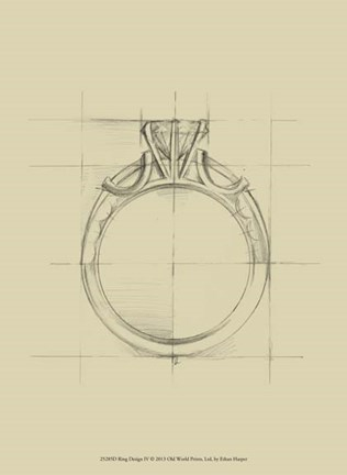 Framed Ring Design IV Print