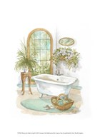 Watercolor Bath in Spa II  Fine Art Print