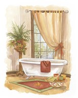 Watercolor Bath in Spice II Art