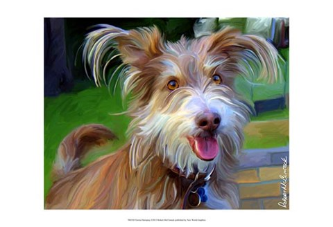 Framed Terrier Hairspray Print