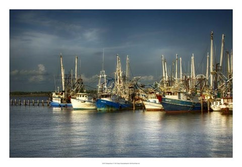 Framed Shrimp Boats I Print