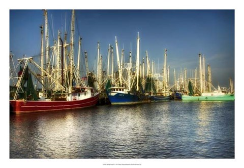 Framed Shrimp Boats II Print