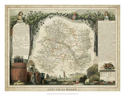 Framed Atlas Nationale Illustre IV Print