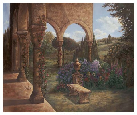 Framed Rose Cloister Print