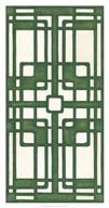 Non-Embellished Emerald Deco Panel I  Fine Art Print