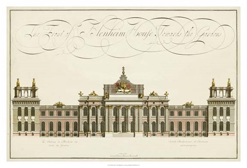 Framed Blenheim House Print