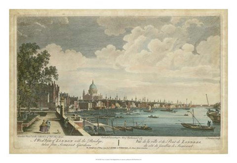 Framed West View of London Print