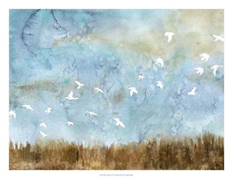 Framed Birds in Flight I Print