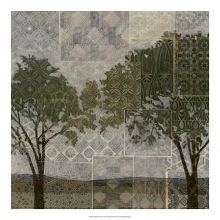 Framed Patterned Arbor I Print