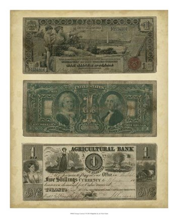 Framed Antique Currency V Print