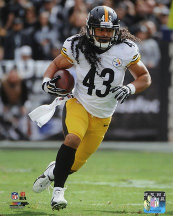 Framed Troy Polamalu with the ball 2013 Print