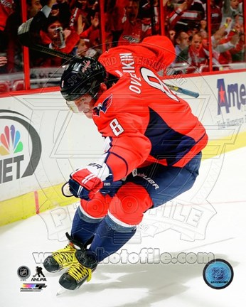 Framed Alex Ovechkin on ice 2013-14 Print