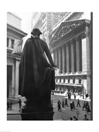 George Washington Statue, New York Stock Exchange, Wall Street, Manhattan, New York City, USA Art