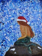 Winterland Mermaid Art
